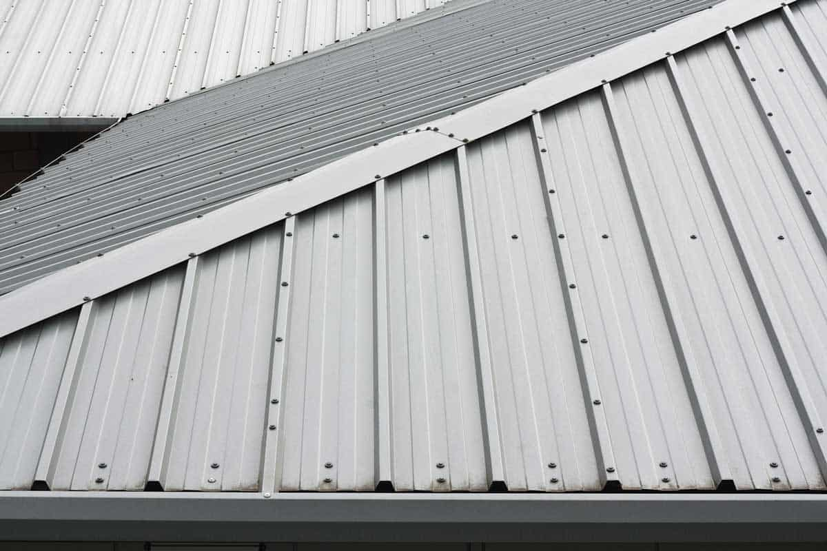 A birds view of Metal roof background