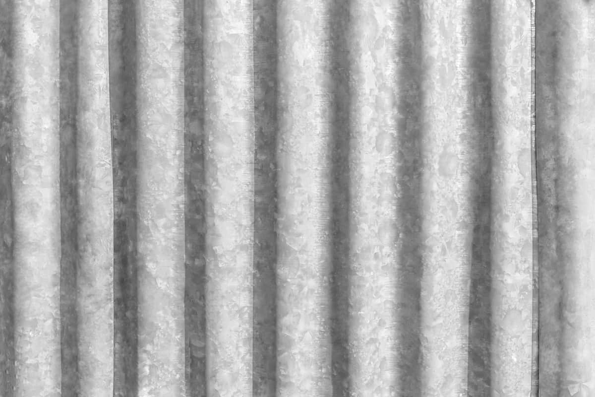 A detailed photo of a corrugated stainless steel sheet