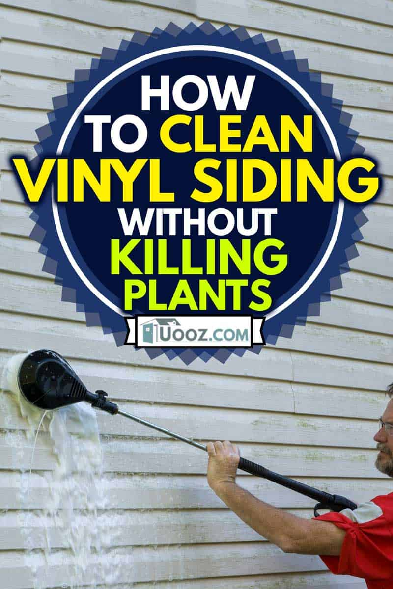 Using a high pressure brush to clean algae and mold off vinyl siding, How to Clean Vinyl Siding Without Killing Plants
