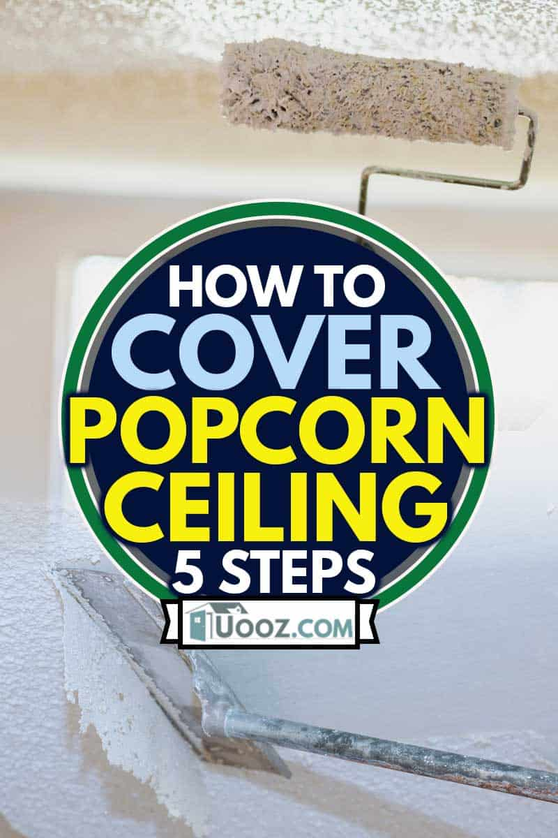 Mature Adult Female Painting Popcorn Ceiling White With Paint Roller;How to Cover Popcorn Ceiling? [5 Steps]