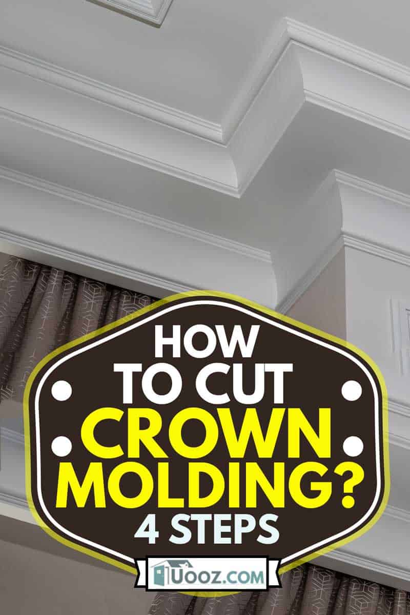 Detail of intricate corner crown molding. a detail of corner ceiling, How to Cut Crown Molding? [4 Steps]