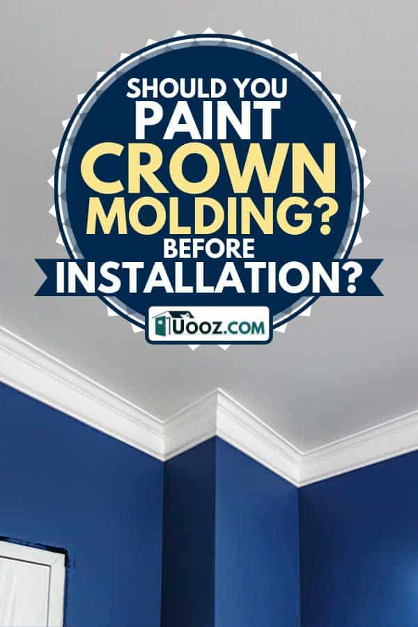 Corner ceiling with intricate crown molding, Should You Paint Crown Molding Before Installation?