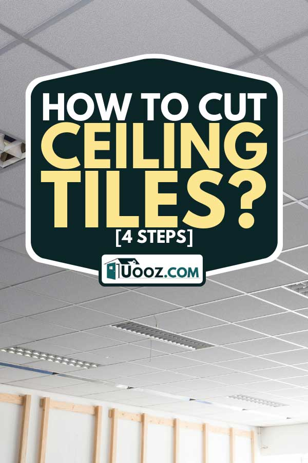 A suspended ceiling with LED square lamps in the office, How To Cut Ceiling Tiles? [4 Steps]