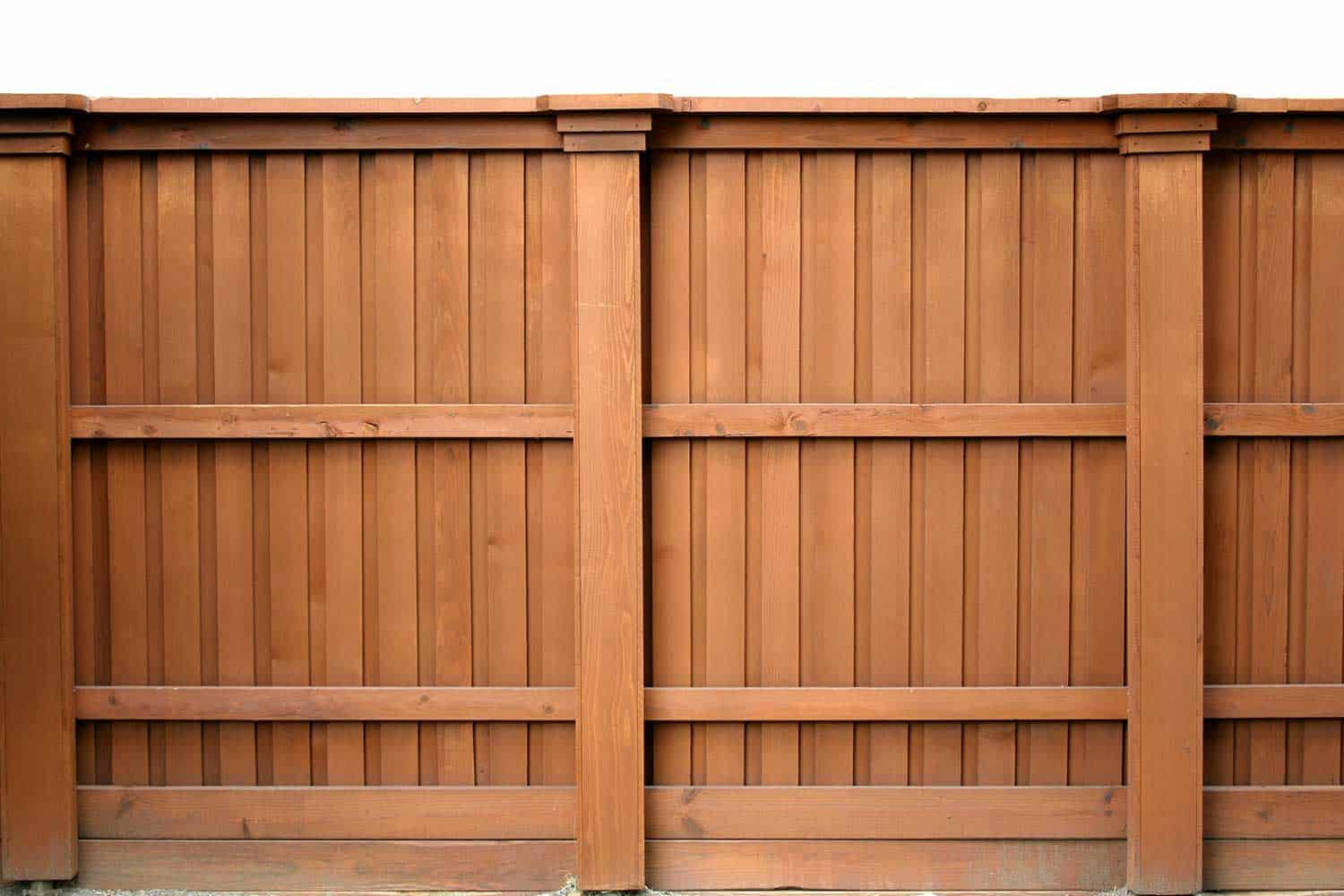 A tall wooden fence