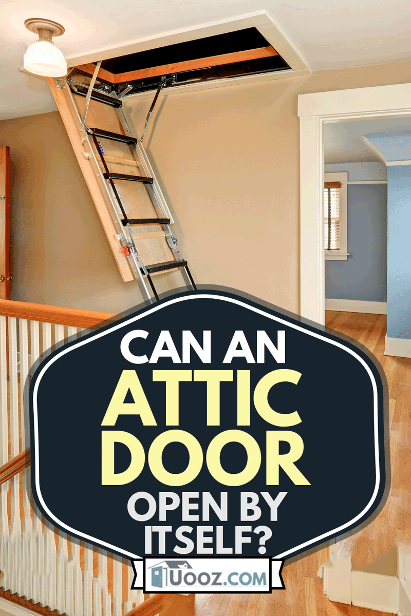 Hallway interior with folding attic ladder, Can An Attic Door Open By Itself?