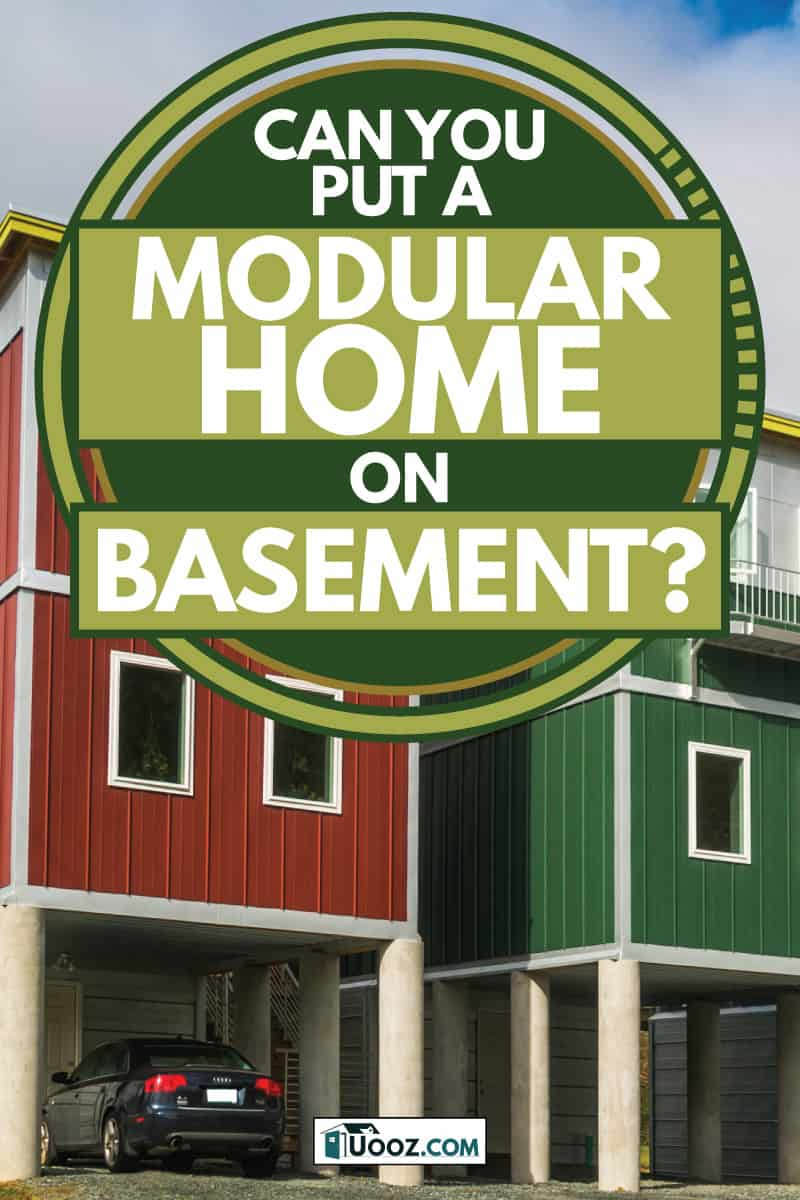 colorful modular homes with a car in car garage, Can You Put A Modular Home On A Basement