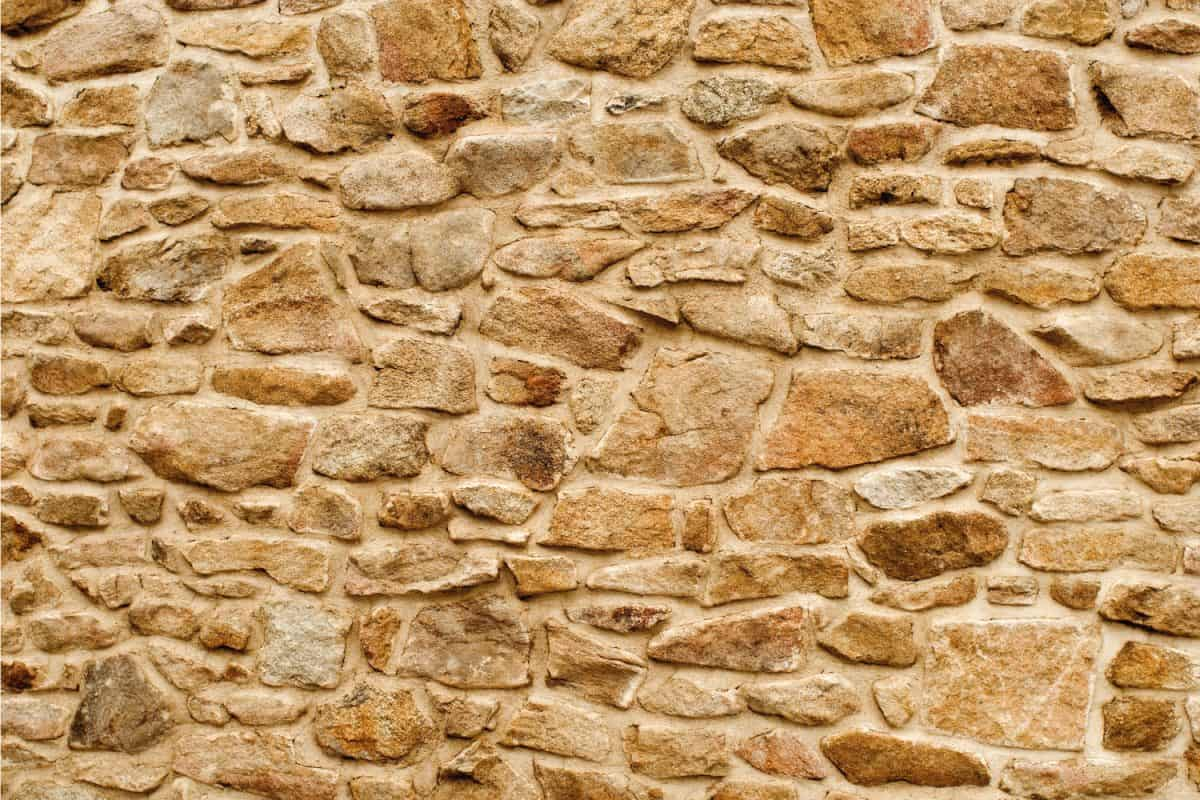 Stone wall cladding on a house wall