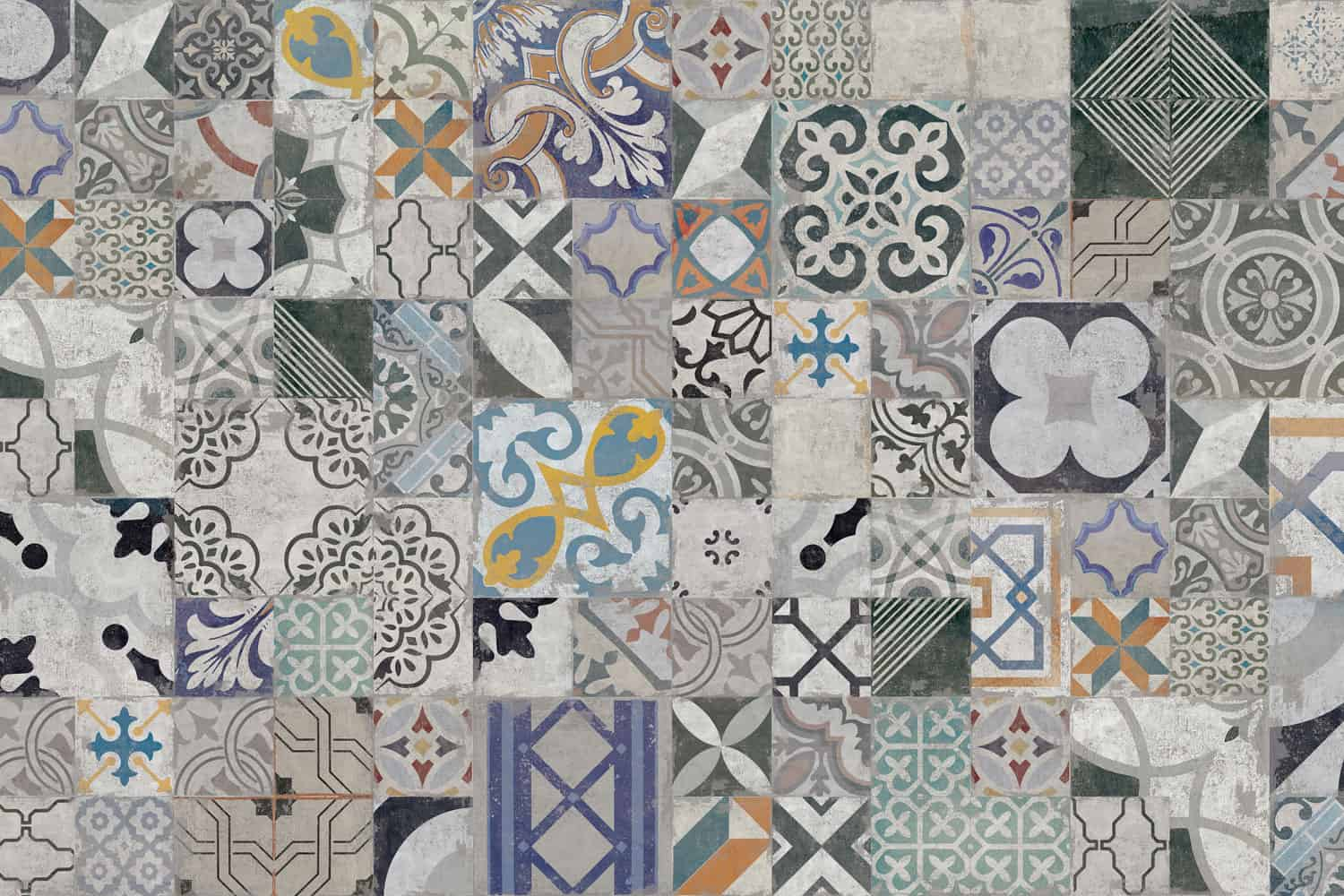 Decorative tiled cement board and tile