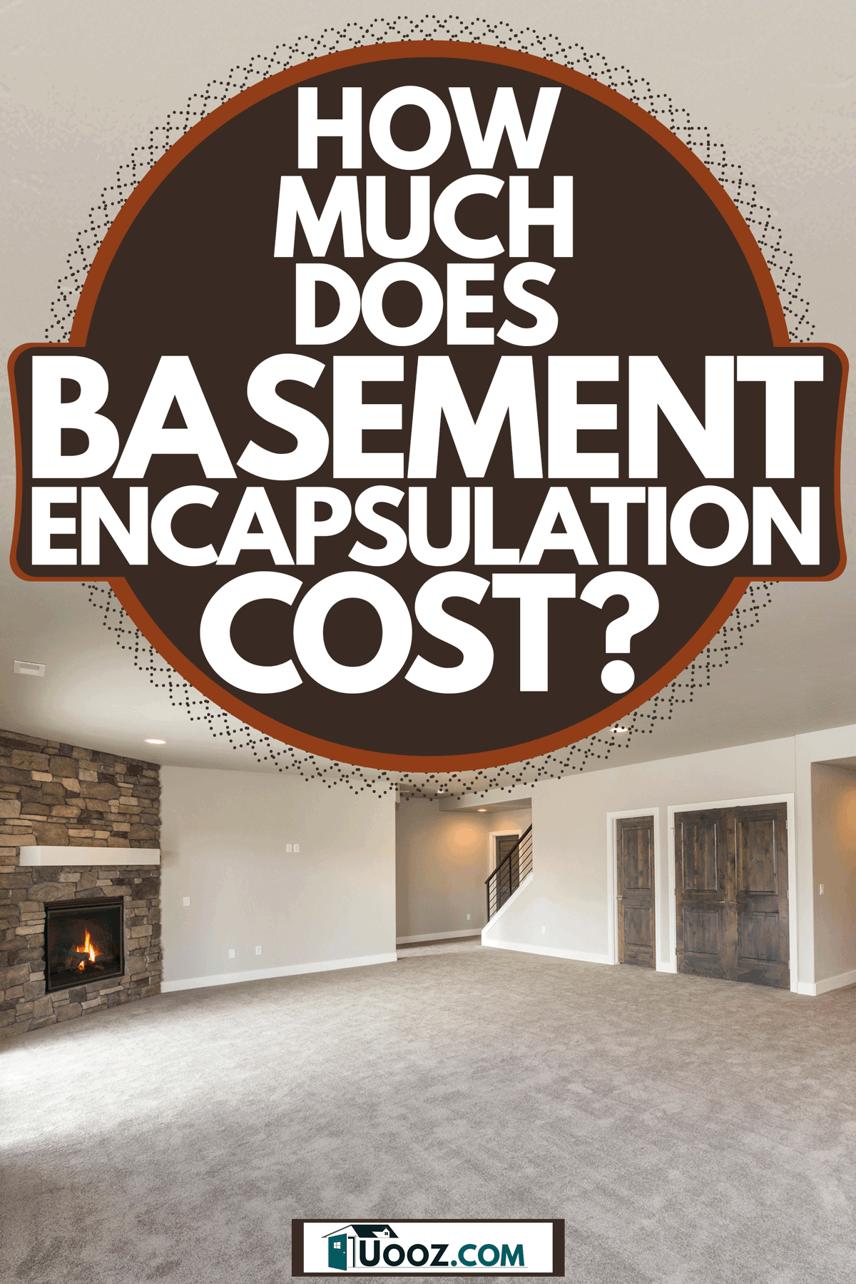 A gorgeous newly furnished basement with a carpeted flooring, off white painted walls, and a gray ceiling, How Much Does Basement Encapsulation Cost?