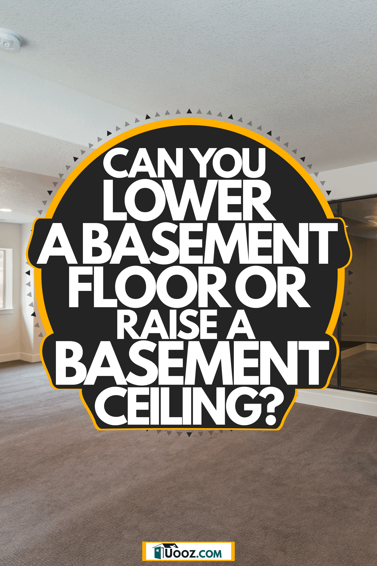 Interior of a spacious and a contemporary themed design with carpeted flooring, Can You Lower A Basement Floor Or Raise A Basement Ceiling?