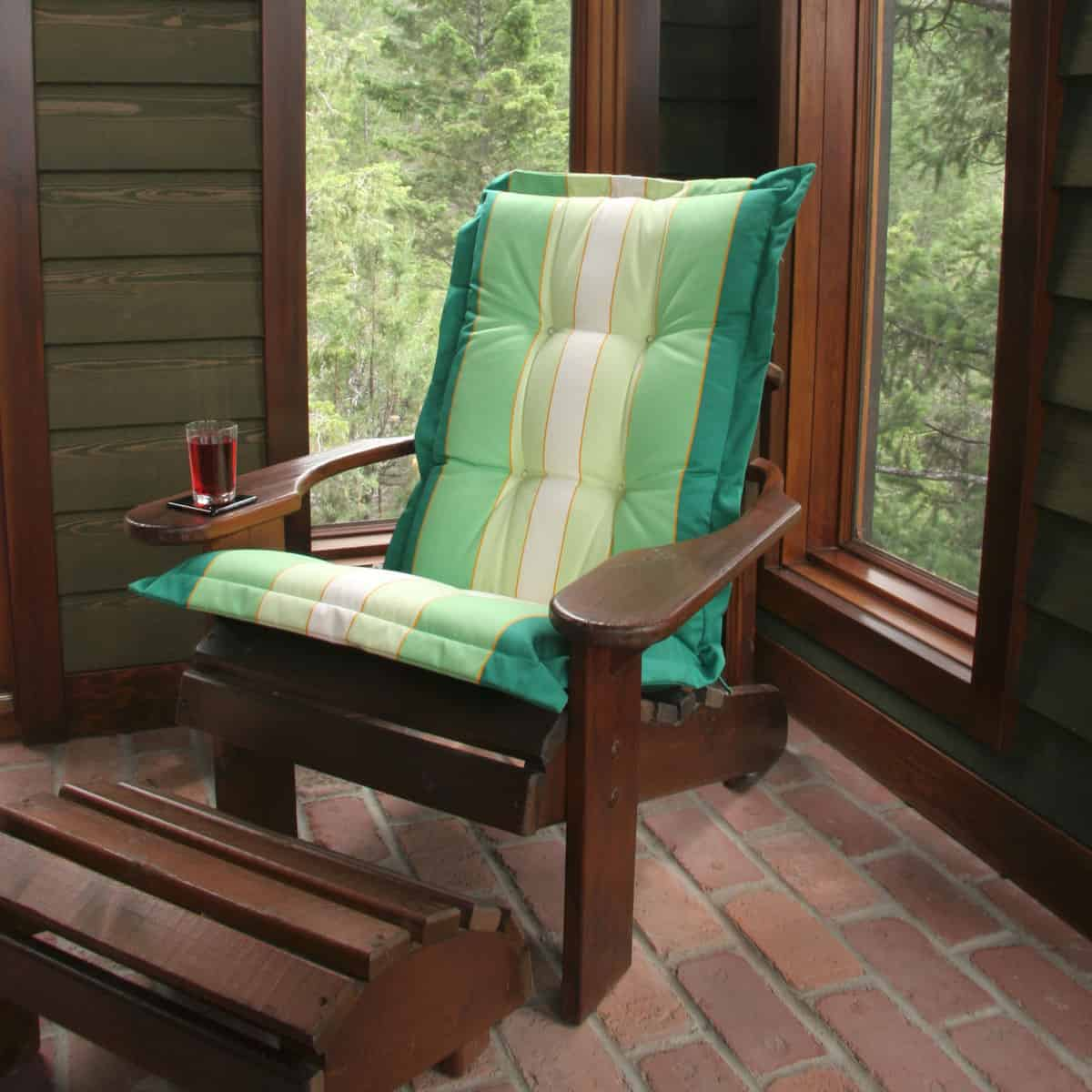 A small wooden chair with a pillow for comfort