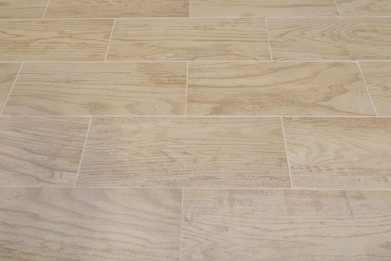 A wooden tiled flooring