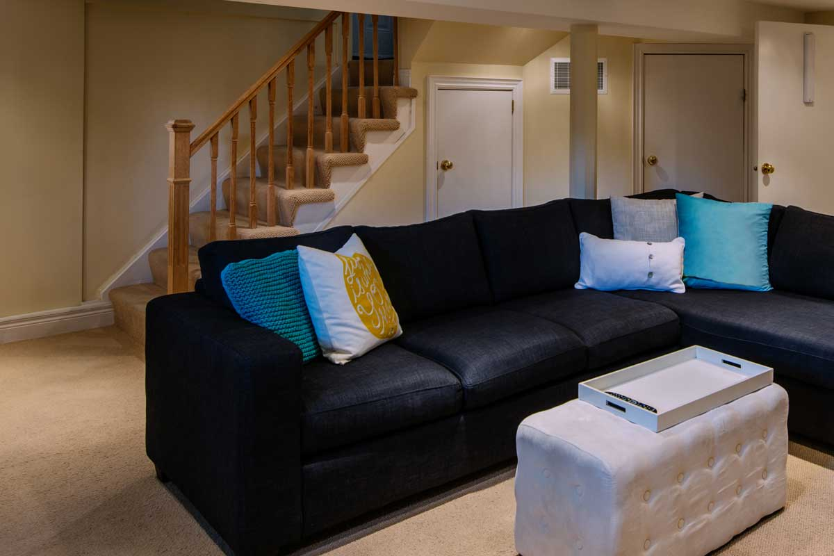 Interior of modern renovated floor basement, How Much Does It Cost To Add Stairs To A Basement?