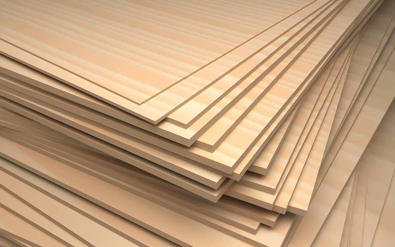 Set of plywood