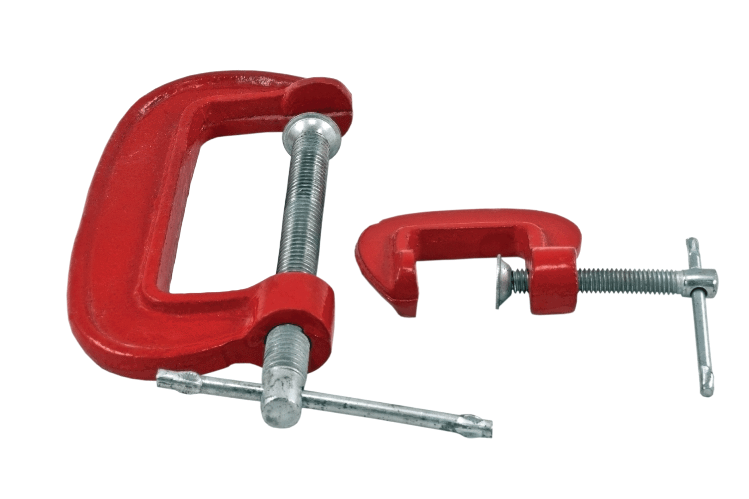 C clamps on white background