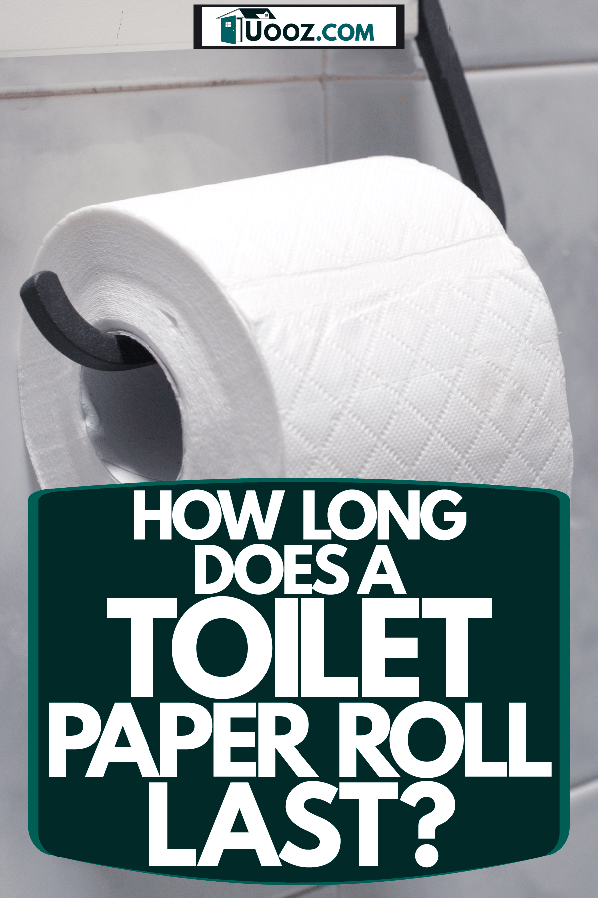 A new and clean toilet paper inserted on the toilet rack, How Long Does A Toilet Paper Roll Last?