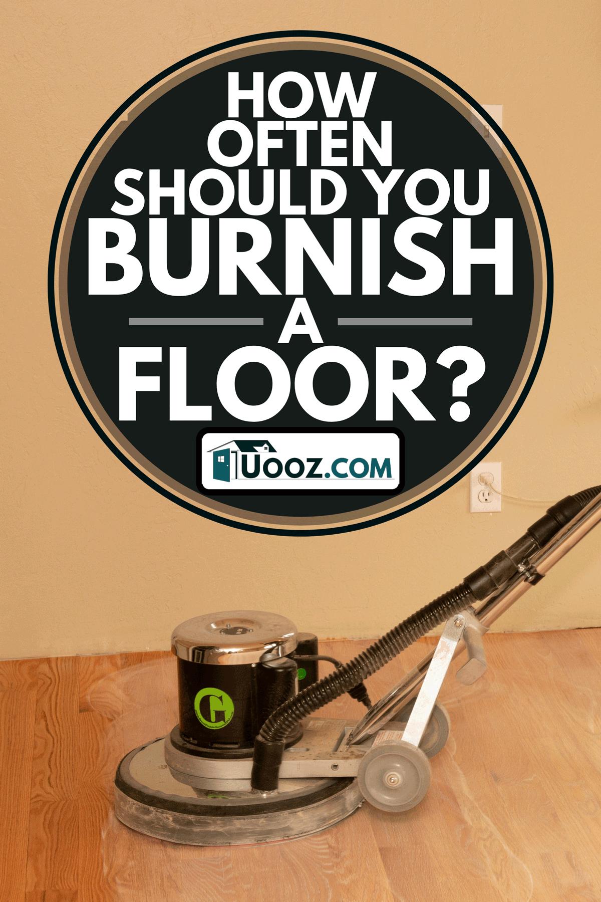 A professional installation of solid oak hardwood floor, How Often Should You Burnish A Floor?
