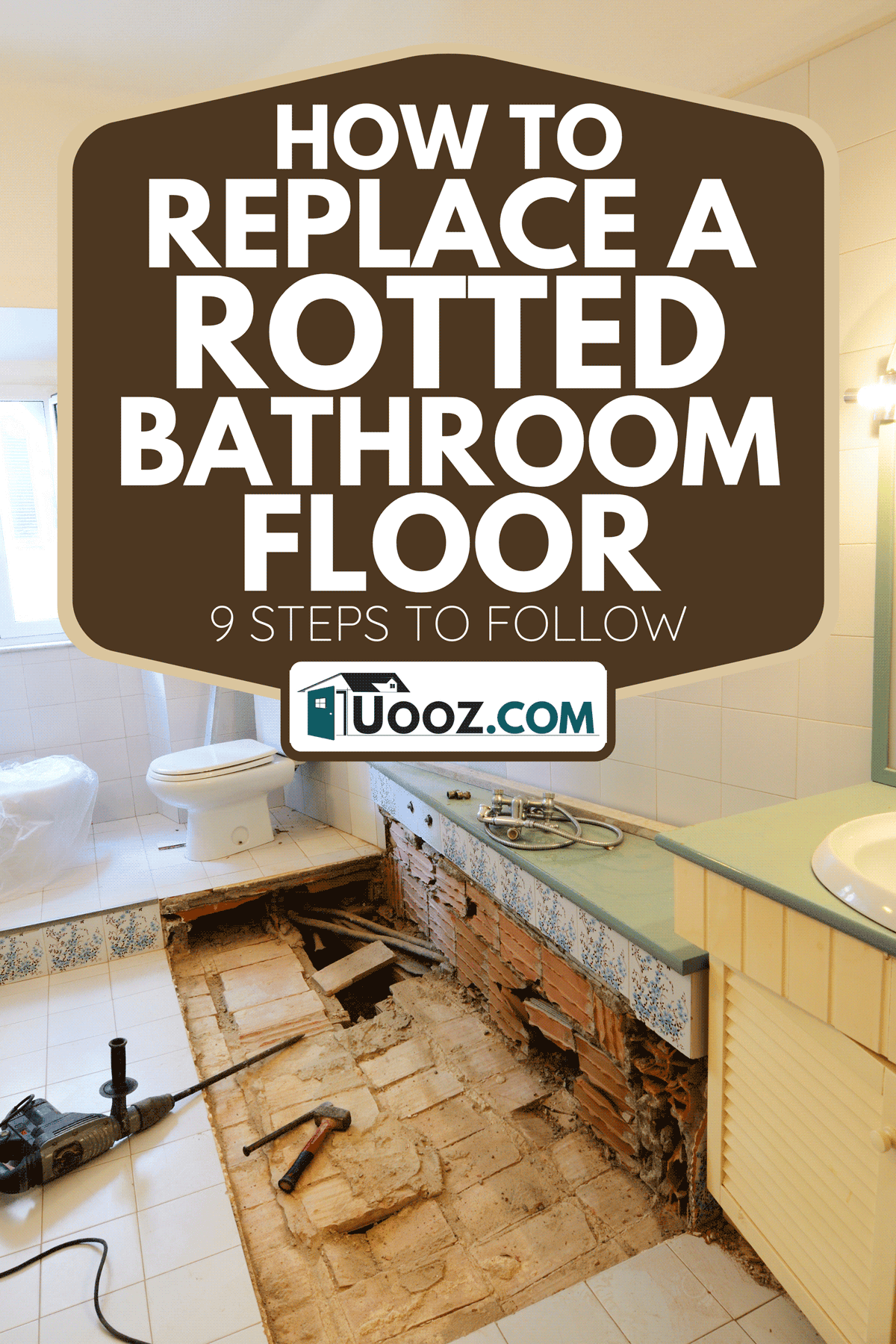 Bathroom renovation changing tiles, How To Replace A Rotted Bathroom Floor - 9 Steps To Follow