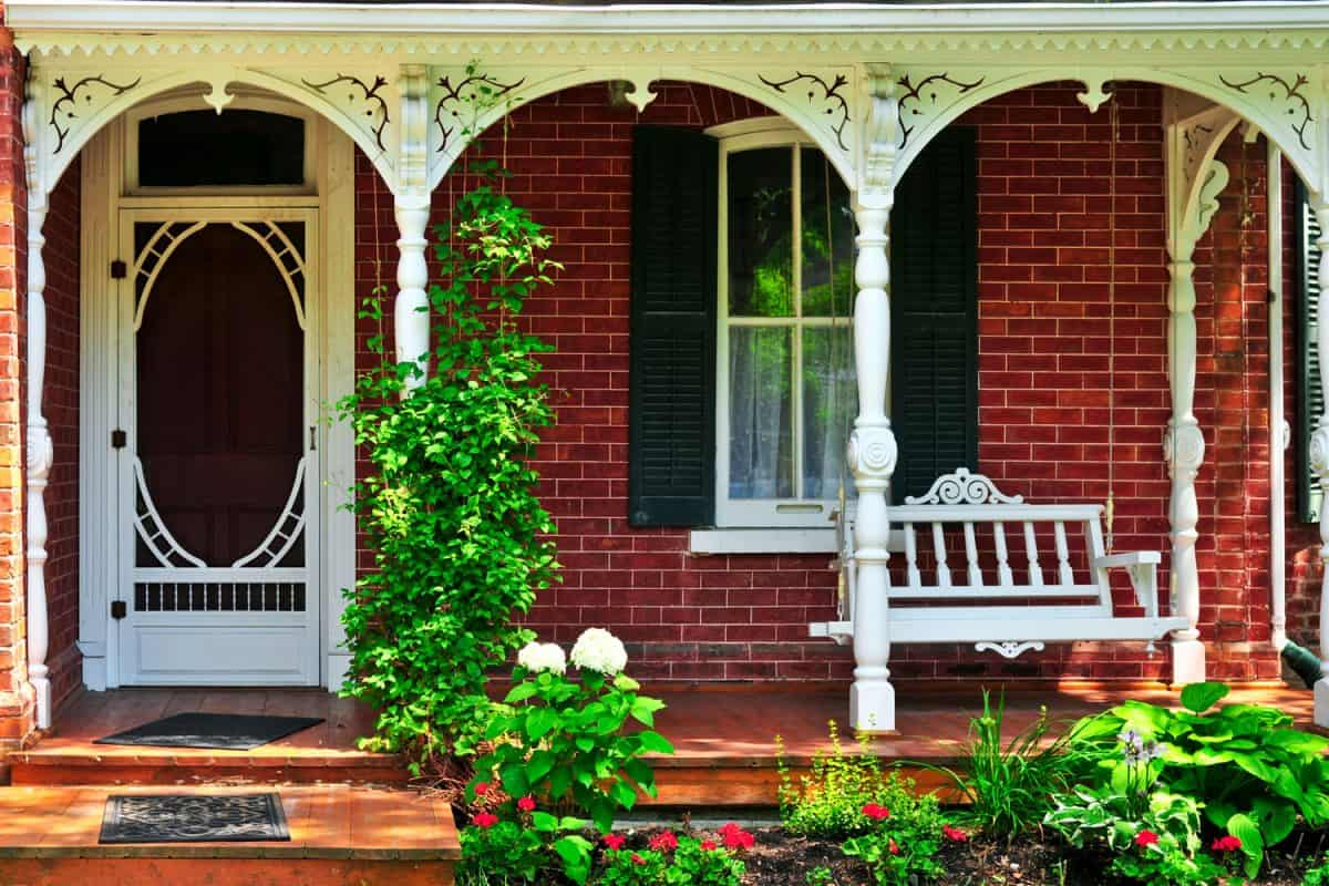 Intricate design of House porch