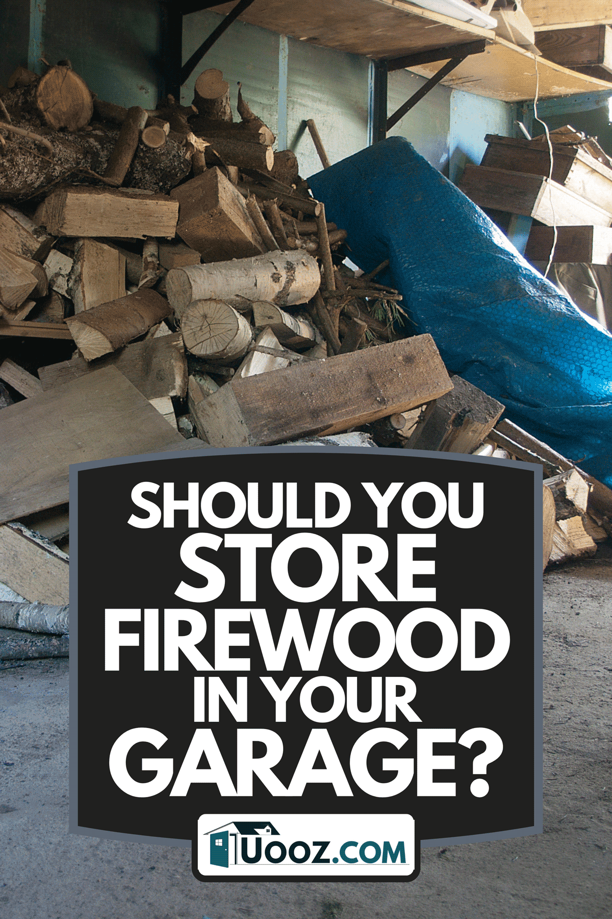 A pile of firewood and other household stuff in a garage, Should You Store Firewood In Your Garage?