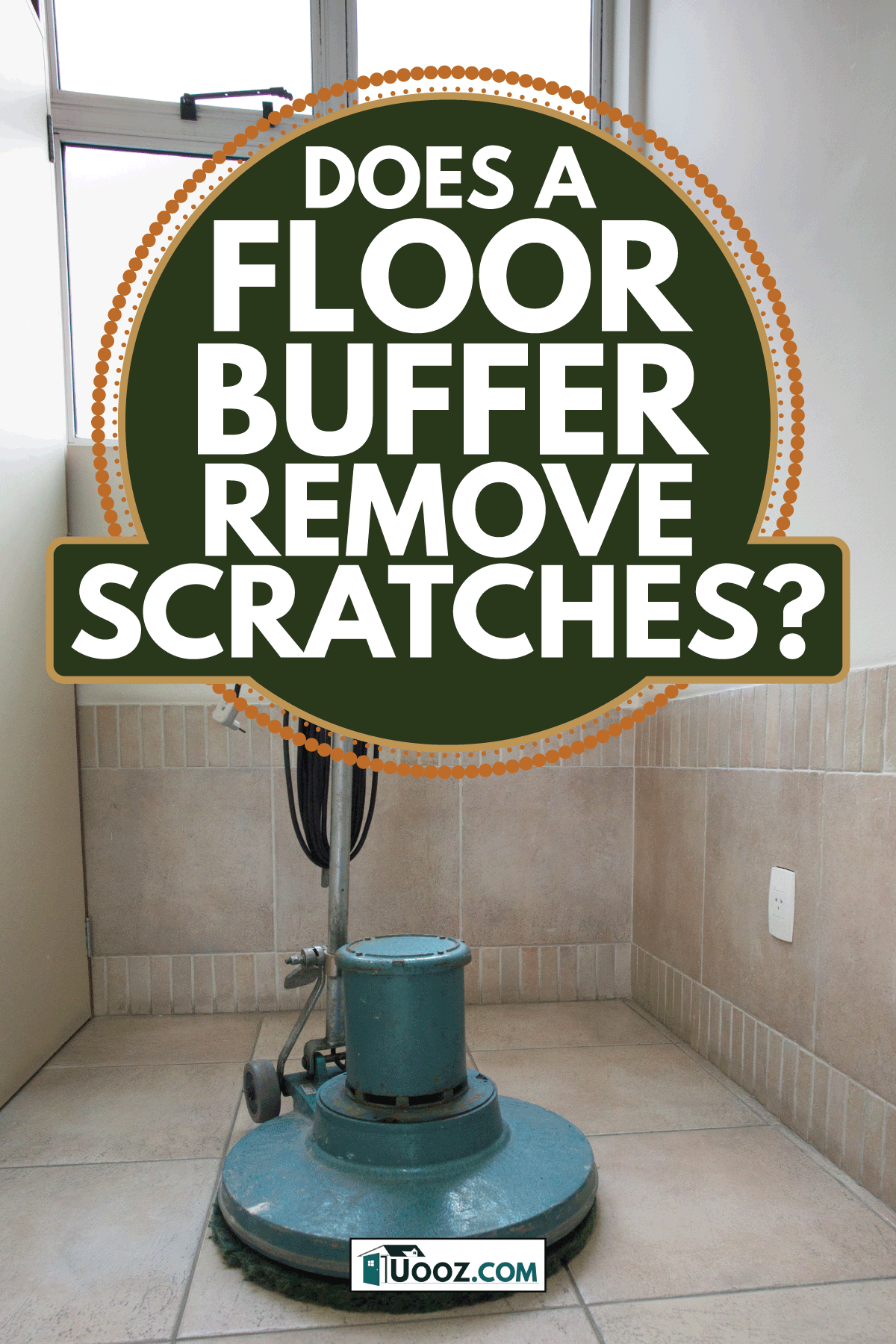 electric polisher standing on the corner of the room. Does A Floor Buffer Remove Scratches