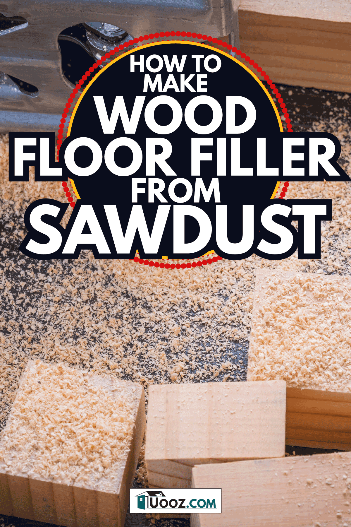 Electrical fretsaw sawdust and wooden bricks. How To Make Wood Floor Filler From Sawdust