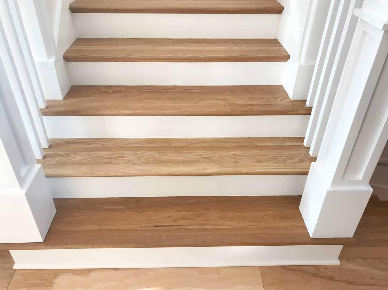 Hardwood floor stairs
