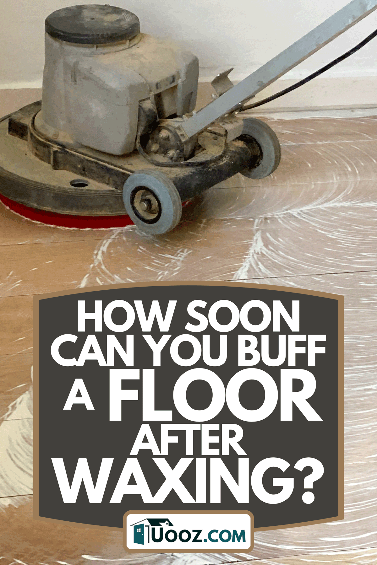 A worker cleaning and buffing floor, How Soon Can You Buff A Floor After Waxing?