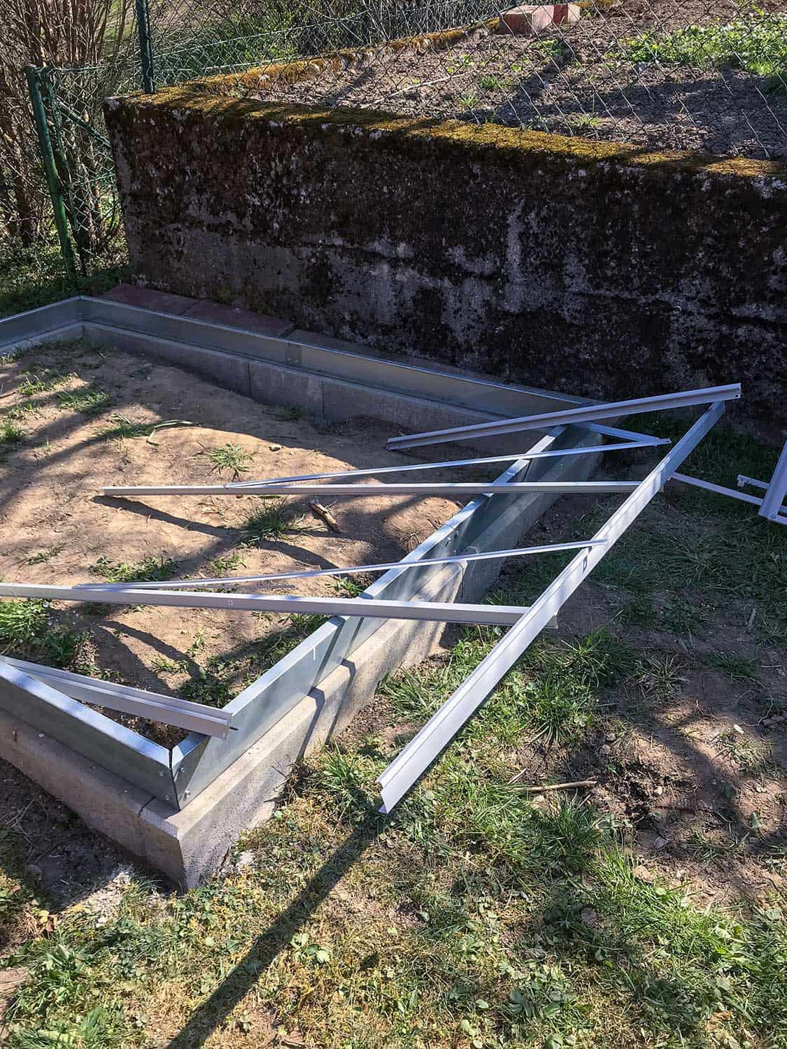 Metal side panels with window for a greenhouse