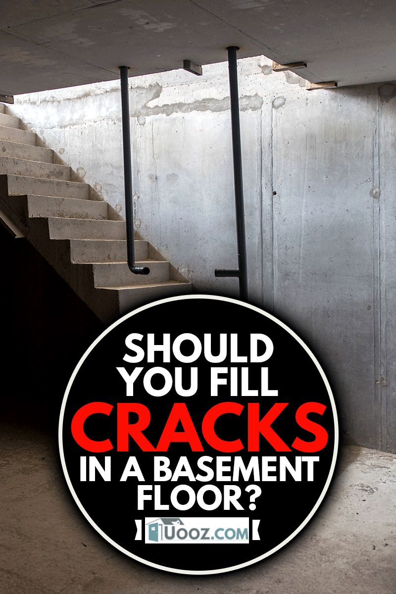 Inside view of sub-basement with stairs, Should You Fill Cracks In A Basement Floor?