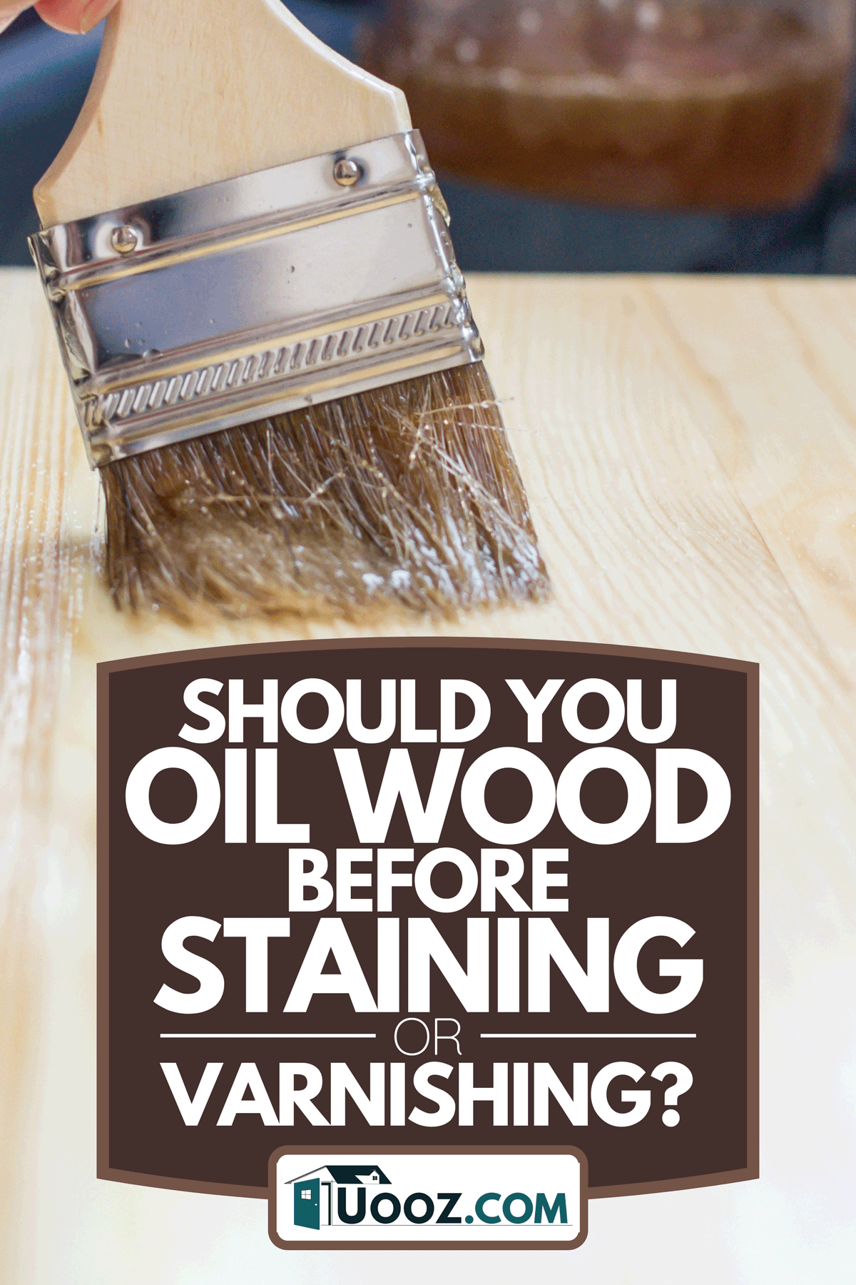 A woman using a paintbrush to paint with varnish on a pine chair or table, Should You Oil Wood Before Staining Or Varnishing?