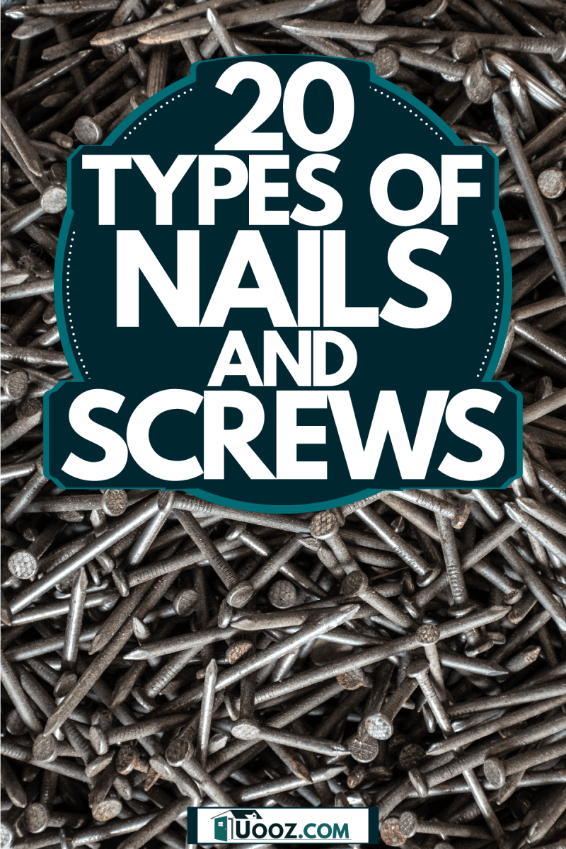 A photo of lots of different nails on a small box, 20 Types Of Nails And Screws
