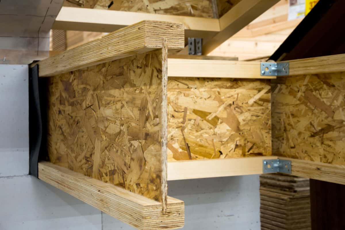 An example of the use of I-beam from OSB