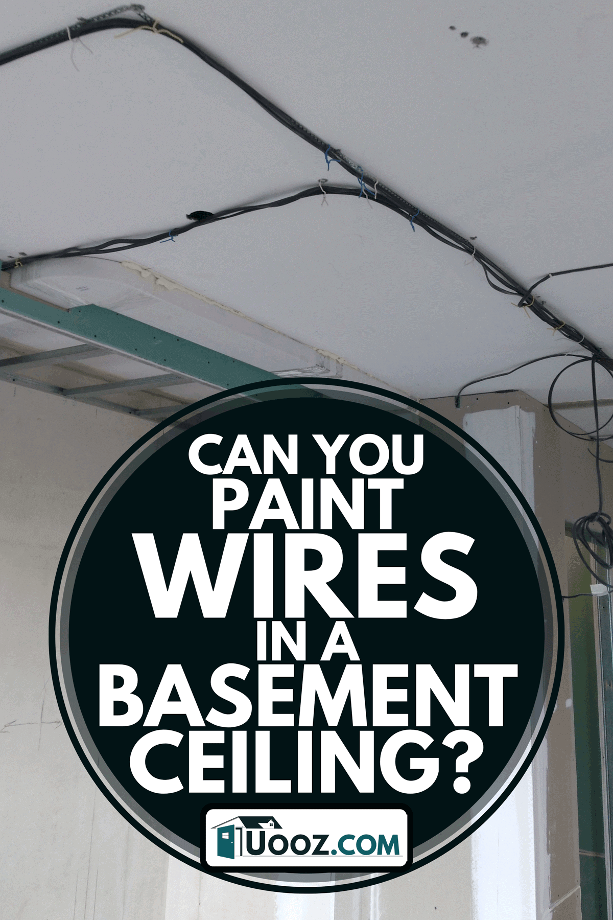 A basement ceiling with wires, Can You Paint Wires In A Basement Ceiling?