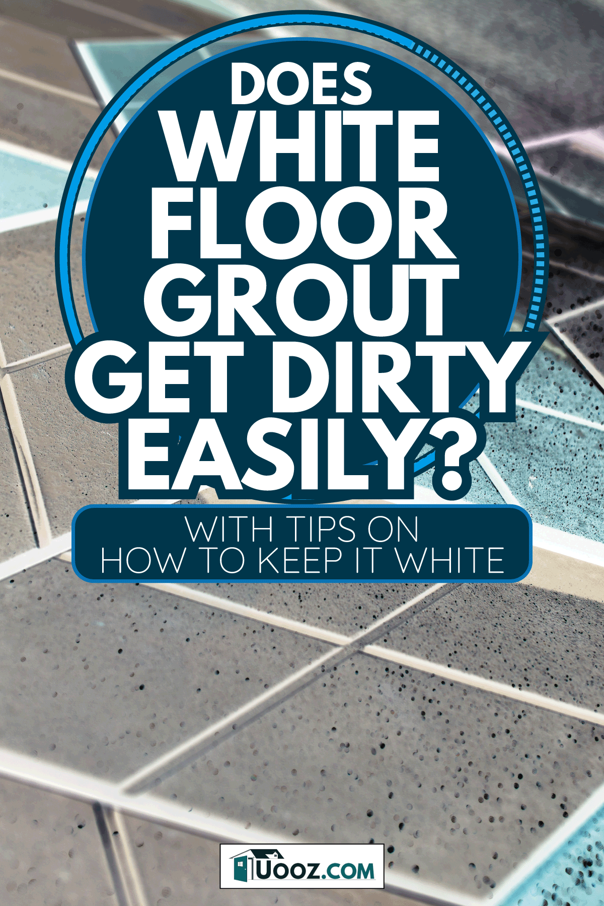cube style paving tile on floor with white grout. Does White Floor Grout Get Dirty Easily [With Tips On How To Keep It White]