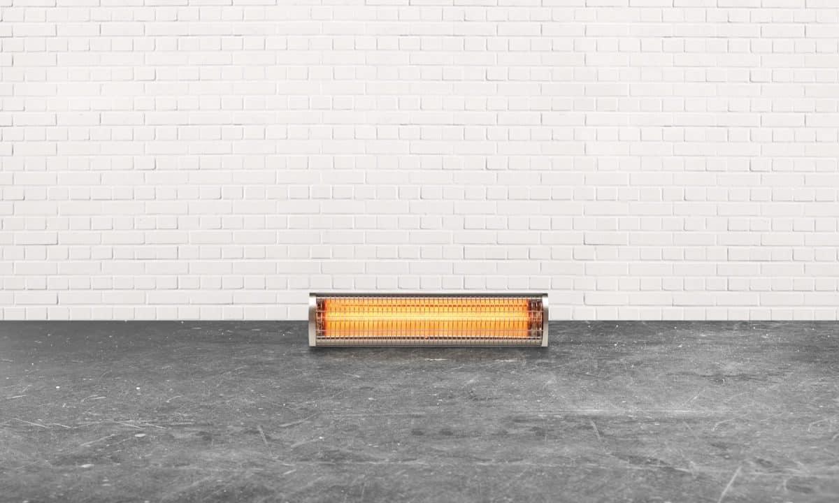 heater in an empty basement room