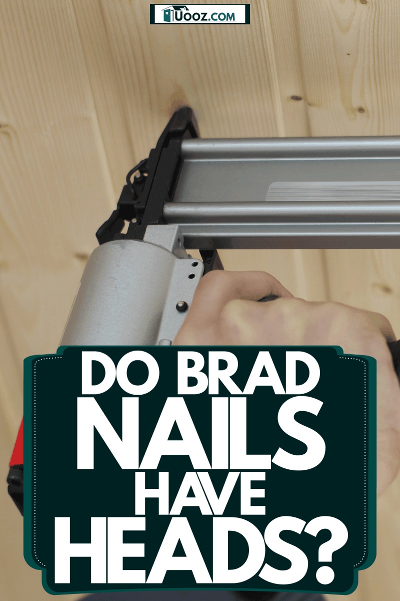 A worker holding a nail gun to attach the wooden ceiling, Do Brad Nails Have Heads?