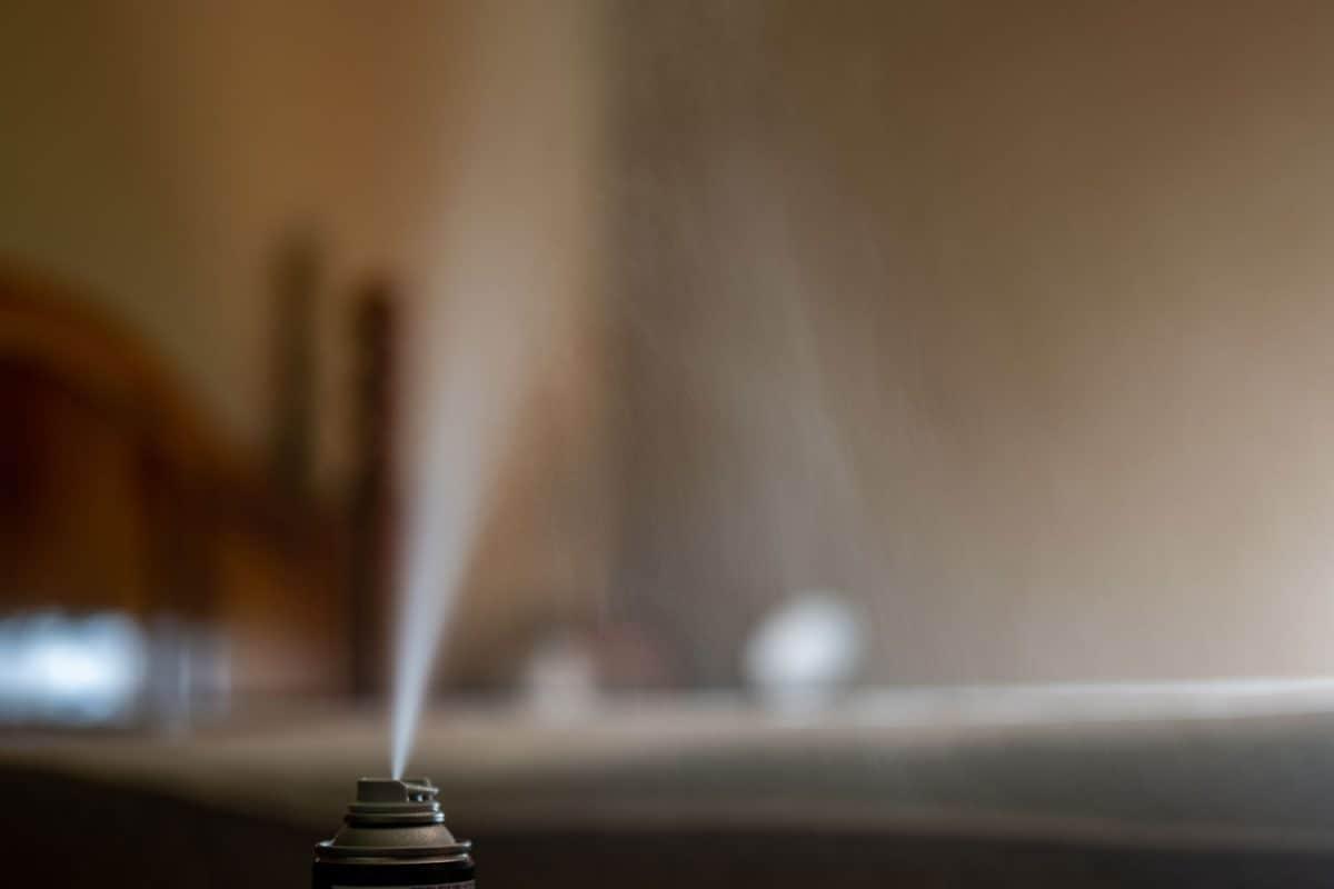 A selective focus photo of a bug fogger