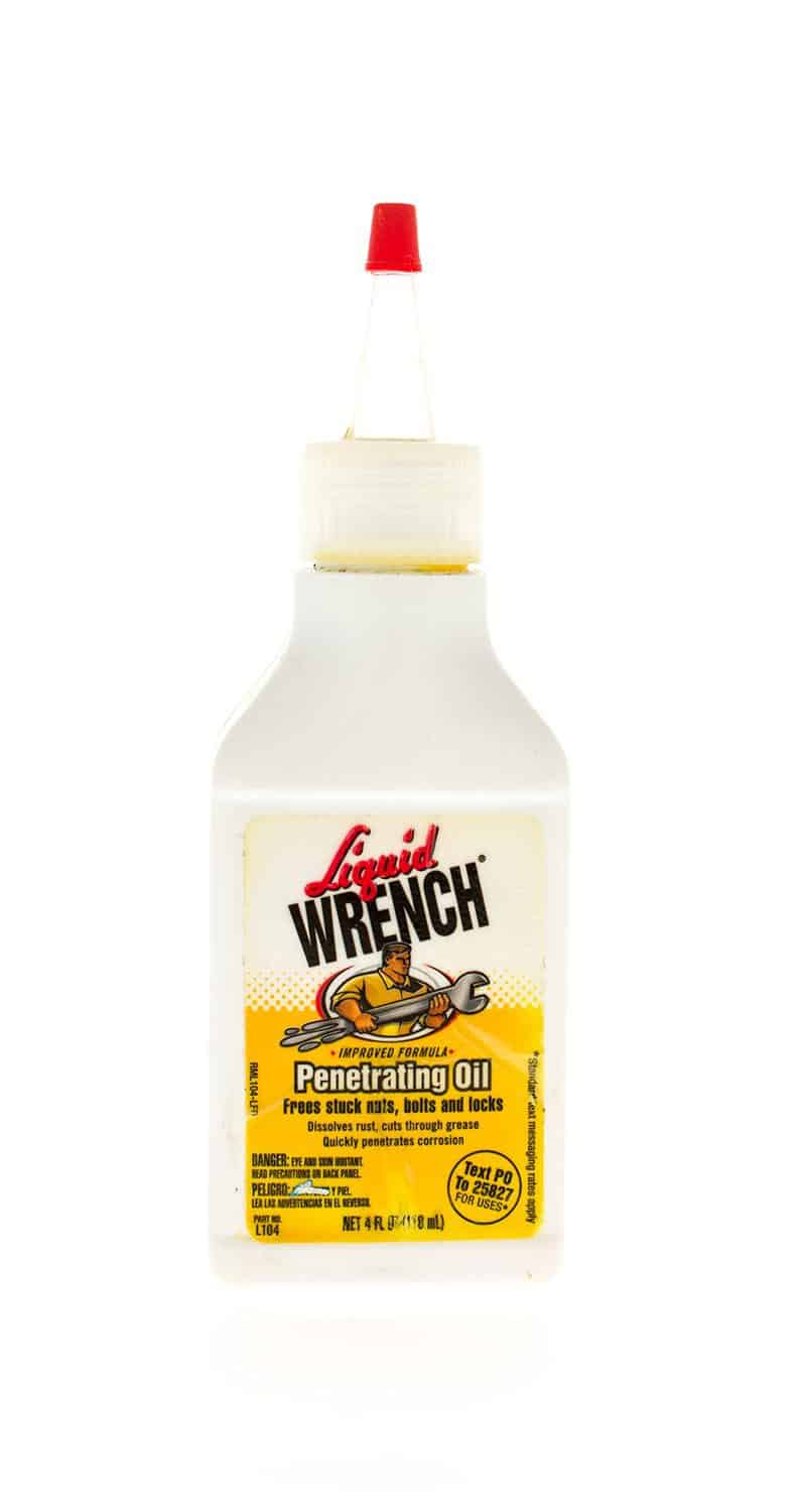 Bottle of liquid wrench penetrating oil made by Gunk
