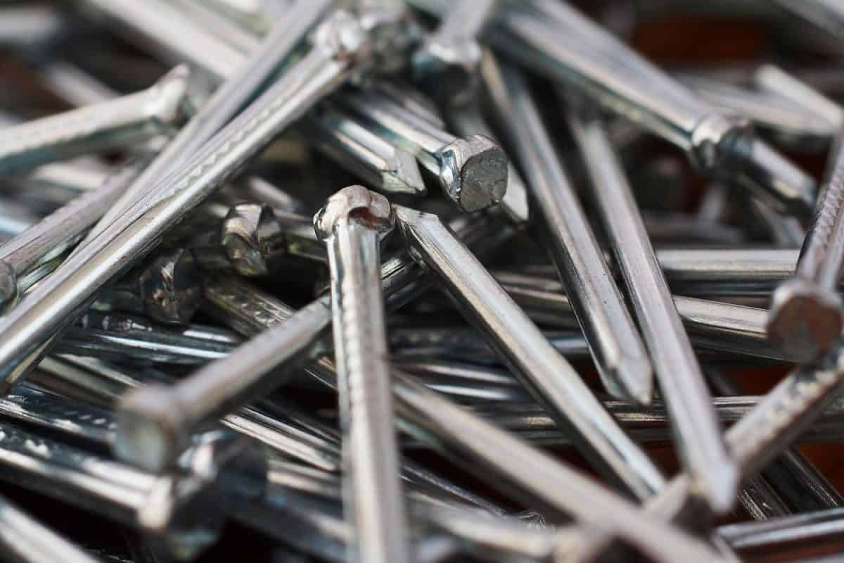 Detailed photograph of brad nails