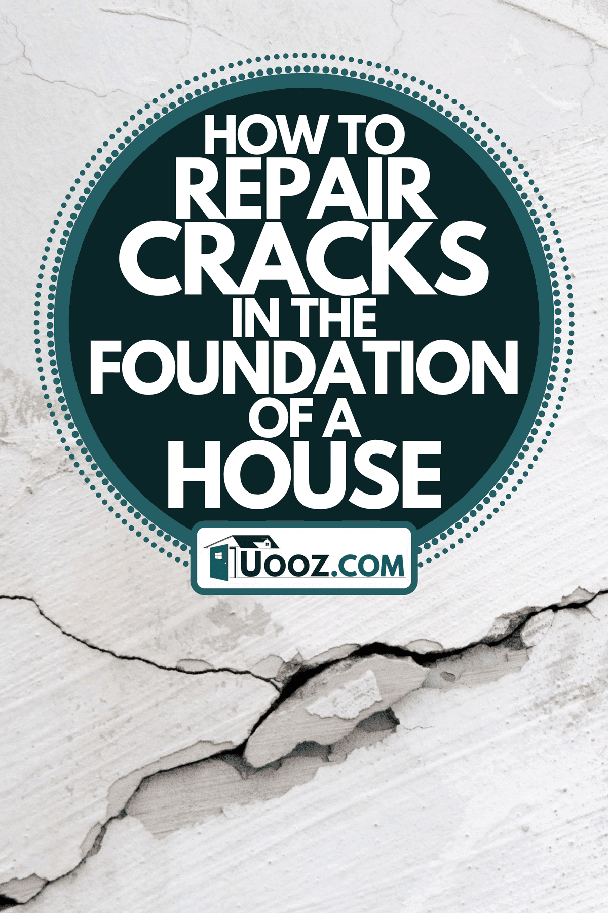A close up of cracking wall, How To Repair Cracks In The Foundation Of A House