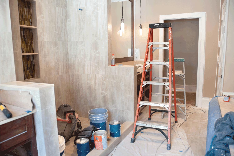 Master Bathroom Remodeling: Painting in-Progress